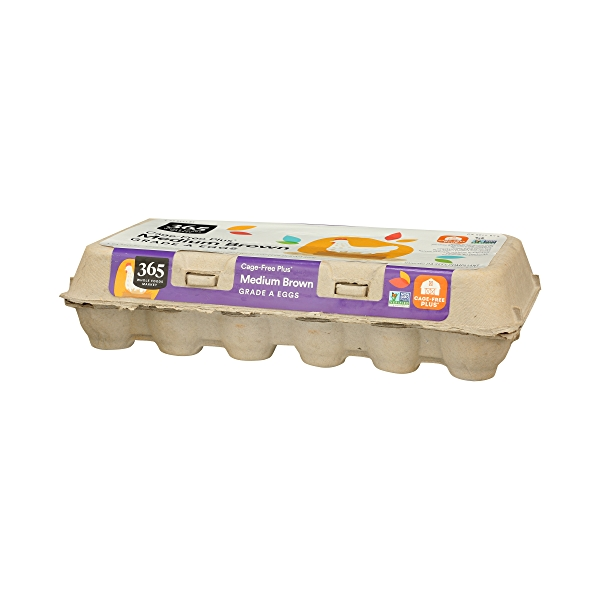 Grade A Eggs Cage-Free Plus Medium Brown (18 Count), 31.5 oz 3