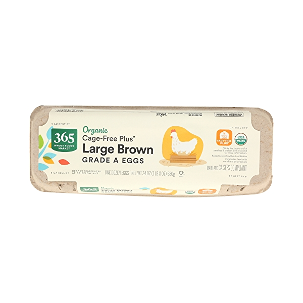 Organic Grade A Eggs Cage-Free Plus Large Brown (12 Count), 24 oz 3