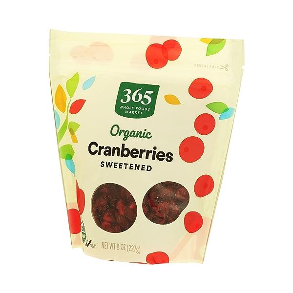 Organic Dried Fruit Cranberries - Sweetened, 8 oz 3