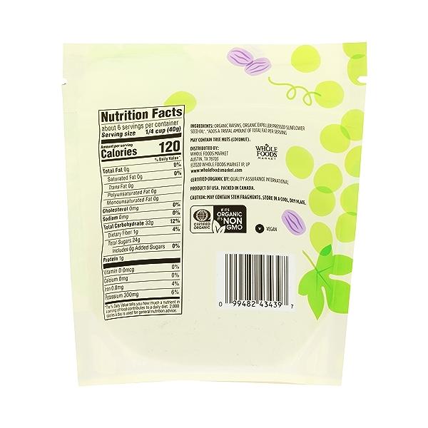 Organic Dried Fruit Thompson Raisins - Seedless, 8 oz 5