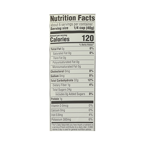 Organic Dried Fruit Thompson Raisins - Seedless, 8 oz 8