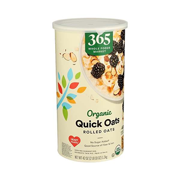 Organic Hot Cereal Quick Oats Rolled Oats, 42 oz 2