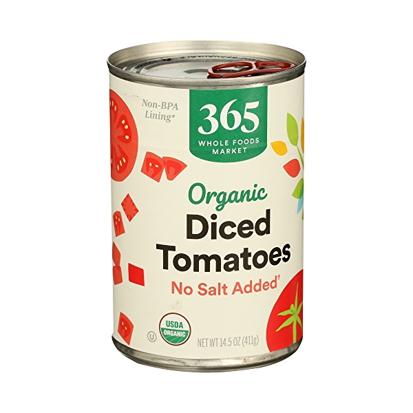 Organic Shelf-Stable Tomatoes Diced - No Salt Added, 14.5 oz 2