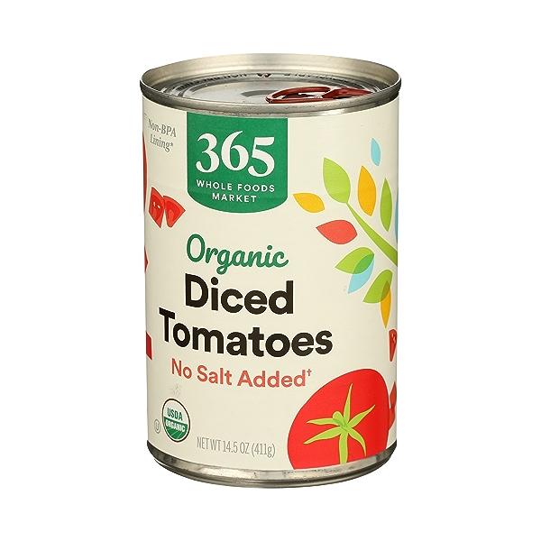 Organic Shelf-Stable Tomatoes Diced - No Salt Added, 14.5 oz 3