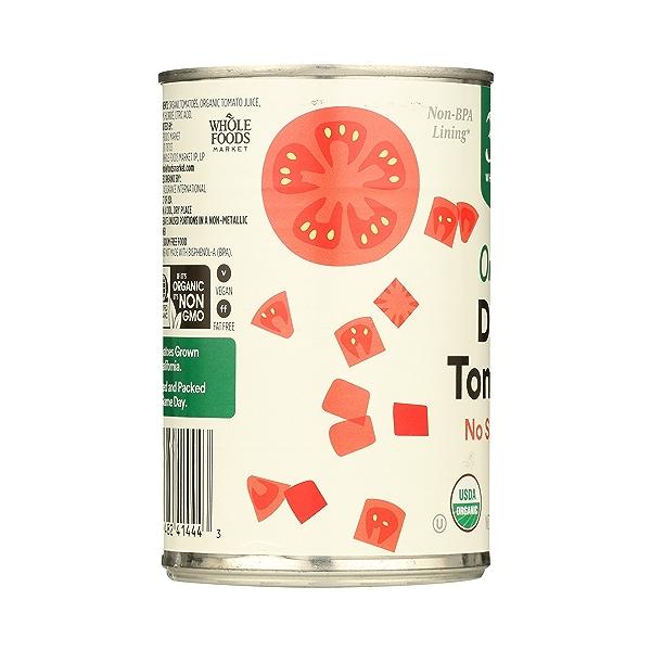 Organic Shelf-Stable Tomatoes Diced - No Salt Added, 14.5 oz 4