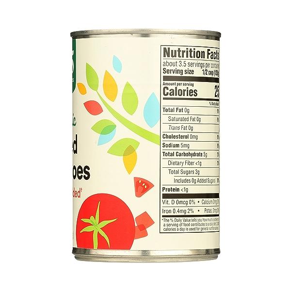 Organic Shelf-Stable Tomatoes Diced - No Salt Added, 14.5 oz 7