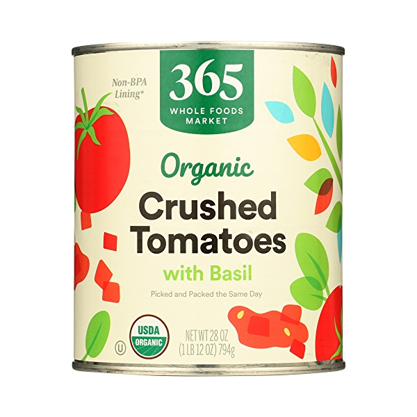 Organic Shelf-Stable Tomatoes Crushed (with Basil), 28 oz 3