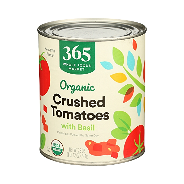Organic Shelf-Stable Tomatoes Crushed (with Basil), 28 oz 4