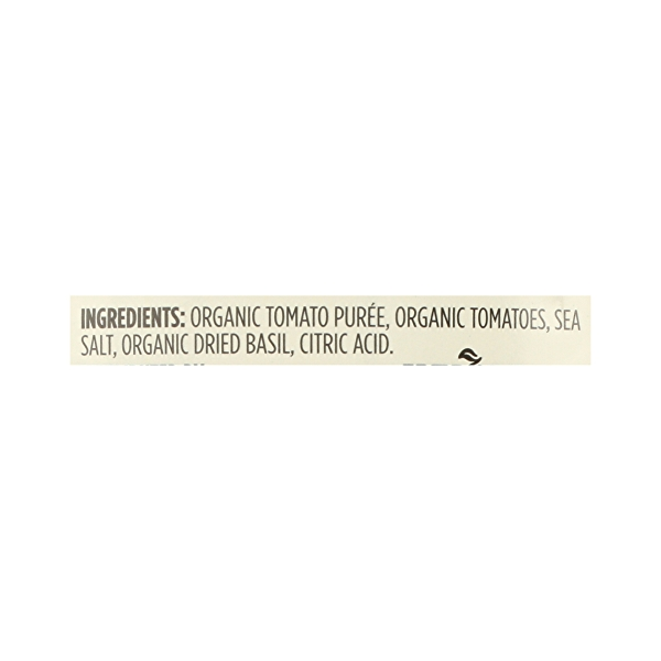 Organic Shelf-Stable Tomatoes Crushed (with Basil), 28 oz 10