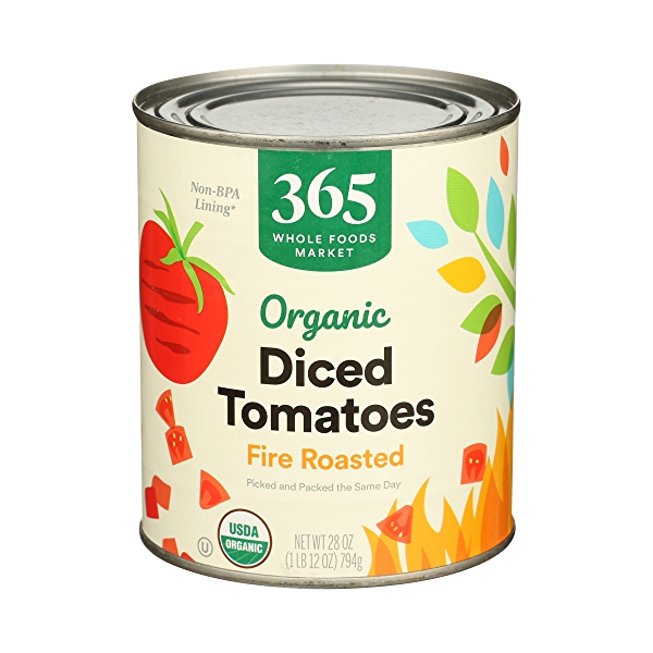 Organic Shelf-Stable Tomatoes Diced - Fire Roasted, 28 oz 1