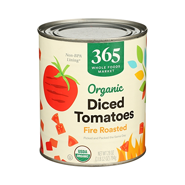 Organic Shelf-Stable Tomatoes Diced - Fire Roasted, 28 oz 2