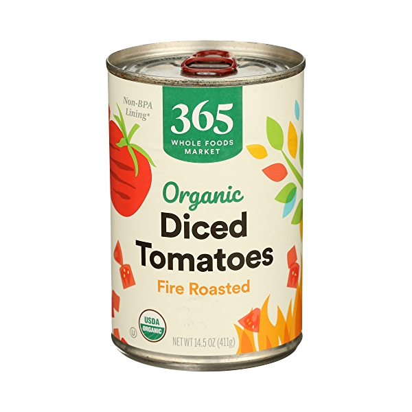Organic Shelf-Stable Tomatoes Diced - Fire Roasted, 14.5 oz 1