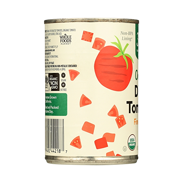 Organic Shelf-Stable Tomatoes Diced - Fire Roasted, 14.5 oz 5