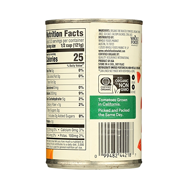 Organic Shelf-Stable Tomatoes Diced - Fire Roasted, 14.5 oz 7