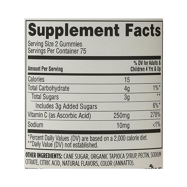 Supplements - Vitamins C (Gummies), 150 gummies 8