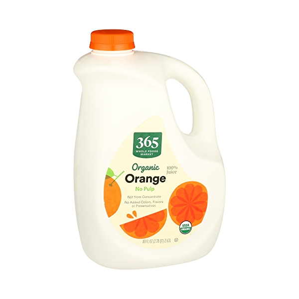 Organic 100% Orange Juice No Pulp (Not From Concentrate), 89 fl oz 1