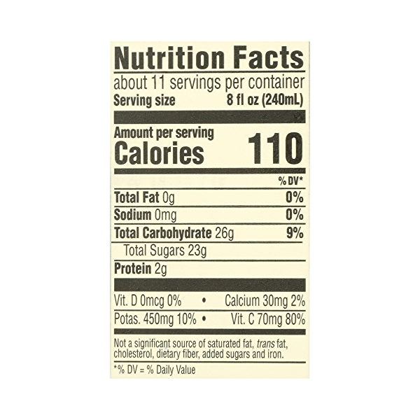 Organic 100% Orange Juice No Pulp (Not From Concentrate), 89 fl oz 6