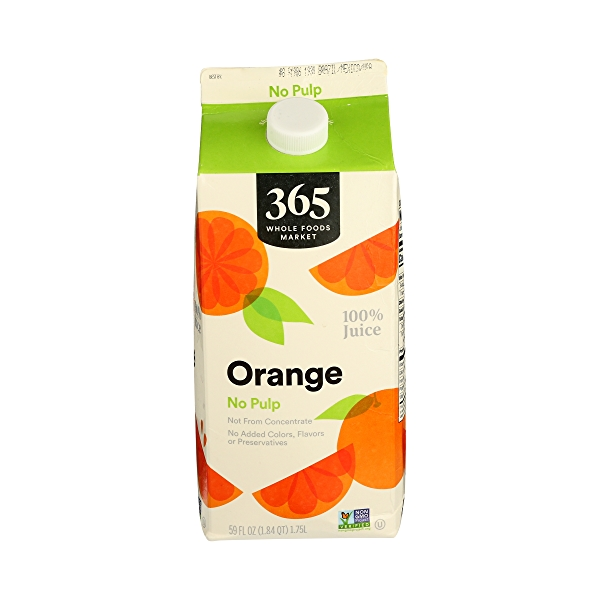 100% Orange Juice No Pulp (Not From Concentrate), 59 fl oz 1