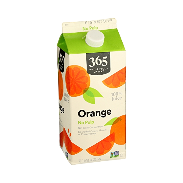 100% Orange Juice No Pulp (Not From Concentrate), 59 fl oz 2