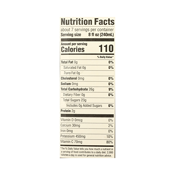 100% Orange Juice No Pulp (Not From Concentrate), 59 fl oz 8