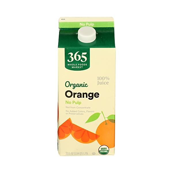 Organic 100% Orange Juice No Pulp (Not From Concentrate), 59 fl oz 1