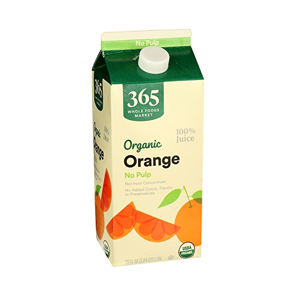 Organic 100% Orange Juice No Pulp (Not From Concentrate), 59 fl oz 2