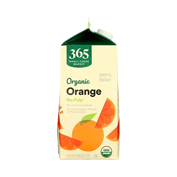 Organic 100% Orange Juice No Pulp (Not From Concentrate), 59 fl oz 3