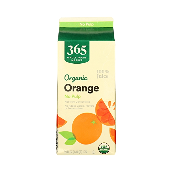 Organic 100% Orange Juice No Pulp (Not From Concentrate), 59 fl oz 5