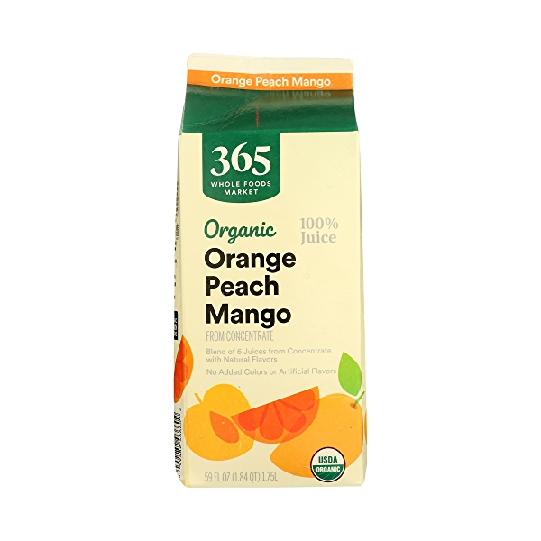 Organic 100% Orange - Peach - Mango Juice (From Concentrate), 59 fl oz 5