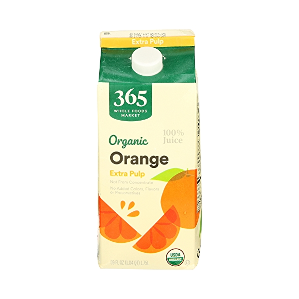 Organic 100% Orange Juice Extra Pulp (Not From Concentrate), 59 fl oz 1