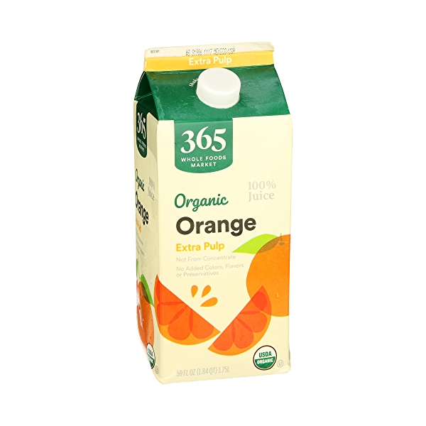 Organic 100% Orange Juice Extra Pulp (Not From Concentrate), 59 fl oz 2