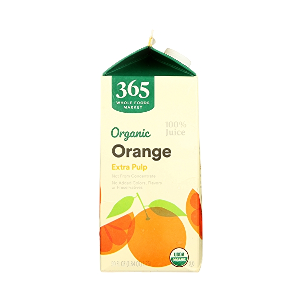 Organic 100% Orange Juice Extra Pulp (Not From Concentrate), 59 fl oz 4