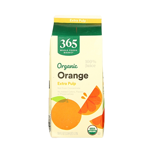 Organic 100% Orange Juice Extra Pulp (Not From Concentrate), 59 fl oz 6
