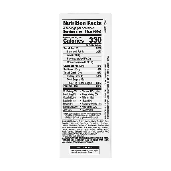 Original Refrigerated Protein Bar, Dark Chocolate Chip Peanut Butter, 9.2 oz 3