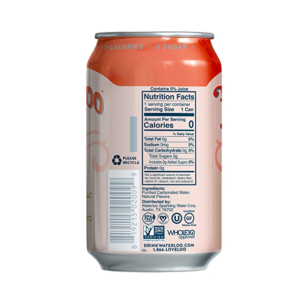 Peach Sparkling Water, 144 fl oz 3