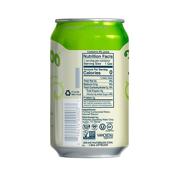 Lemon Lime Sparkling Water, 144 fl oz 3