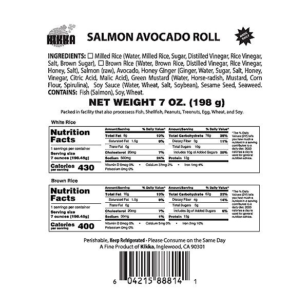 Salmon Avocado Roll, 7 oz 2