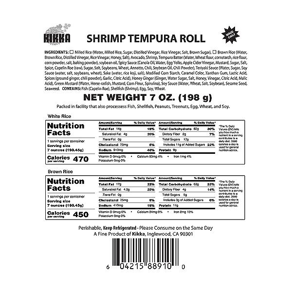 Shrimp Tempura Roll, 7 oz 3