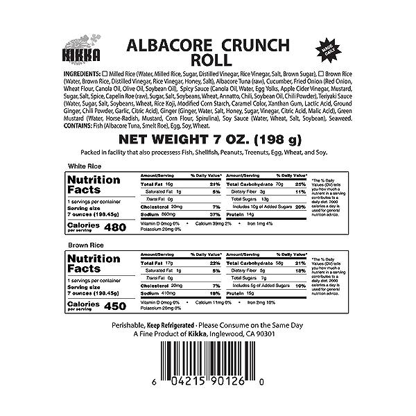Albacore Crunch Roll, 7 oz 3