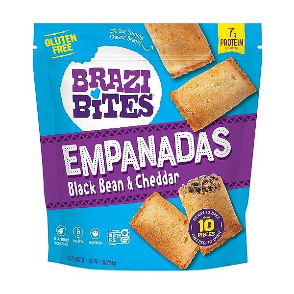 Gluten-Free Empanadas, Black Bean & Cheddar, 10oz (Frozen) 1