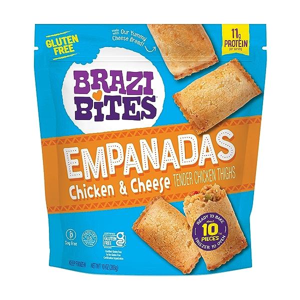 Gluten-Free Empanadas, Chicken & Cheese, 10oz (Frozen) 1