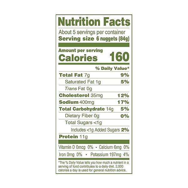 Natural Gluten-Free Chicken Nuggets Family Size, 16oz (Frozen) 4