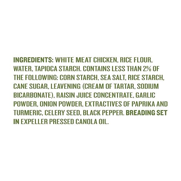 Natural Gluten-Free Chicken Nuggets Family Size, 16oz (Frozen) 3