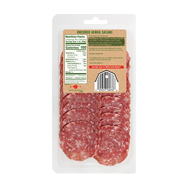 Natural Uncured Genoa Salami, 4oz 2