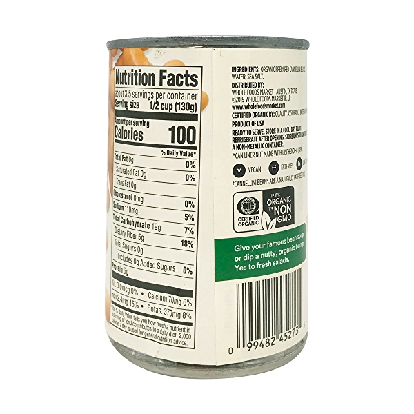 Organic Cannellini Beans, 15.5 oz 5