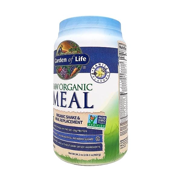 Organic Raw Meal Vanilla, 34.2 oz 2