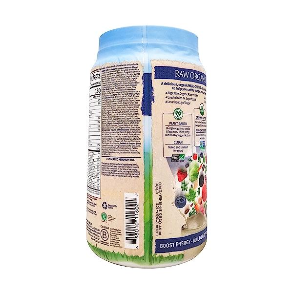 Organic Raw Meal Vanilla, 34.2 oz 5