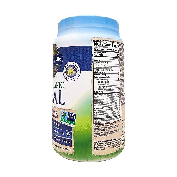 Organic Raw Meal Vanilla, 34.2 oz 3
