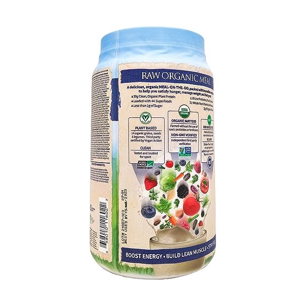 Organic Raw Meal Vanilla, 34.2 oz 6