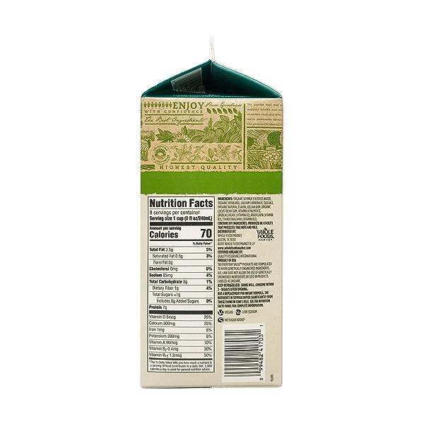 Unsweetened Original Soymilk, 64 fluid ounce 2